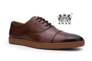 Dark Brown Color Classic and High Quality Top Cowhide Leather Outdoor Sport Men Shoes
