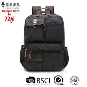 Classic Canvas Leather Fashion New Design School Hiking Backpack Travel Fashionable Waterproof Tote Men School Wholesale Laptop Outdoor Backpack