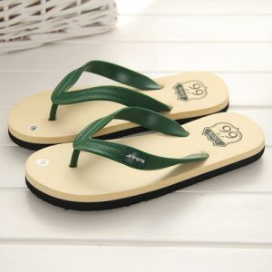 Classical Men Slippers Summer Fashion Beach Flip Flop Cream Color  Slipper