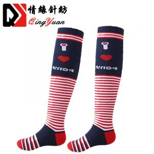 Custom Men 100% Cotton Knee High Horse Riding Sublimation Equestrian Socks