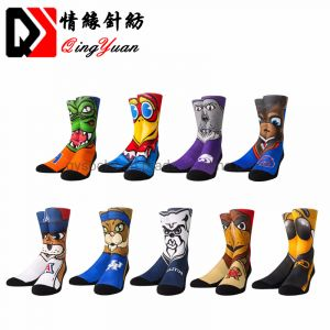 Custom Men Print Crew Waterproof Sports Socks