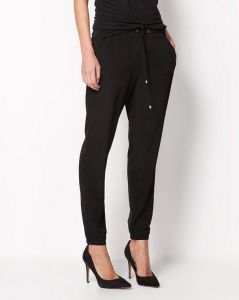 Custom Plain Women Chiffon Harem Black Color  Trousers (50208)