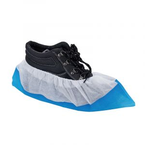 Cw008 Bi-Color Plastic PE CPE Disposable Shoe Cover