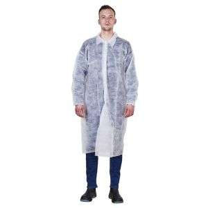 D003 Disposable 140cm Non-Woven Protective Gown with Collar