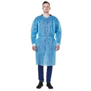 D004 Full Body Non-Woven Coverall Disposable Isolation Clothing Suit Coverall