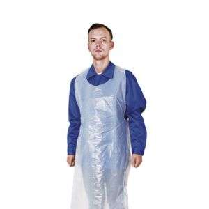 D108 LDPE HDPE Clear Plastic Waterproof Lace up Aprons