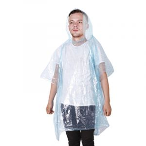 D109 LDPE HDPE Clear Plastic Waterproof Disposable Raincoats