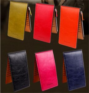 Multi Card Holder Zip Long Style PU Wallet