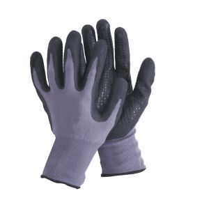 15 Guage String Knitted Base Polyester Working Glove Nitrile Coated Safety Gloves, Microfine Foam N11056