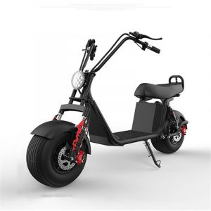 1500W 45km/H Grand Harley Speed Fast Electric Scooter Has a Removable Lithium Battery for Recharging on Its Two-Wheeled Wide-Tire Scooter