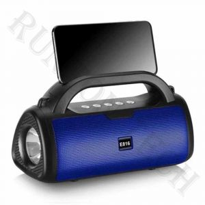 E816 Outdoor Portable Bluetooth Wireless Subwoofer Flashlight Phone Stand Speaker