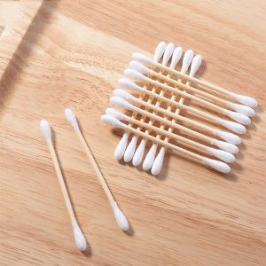 Ear Cleaning Bathroom Accessories 100% Natural Bamboo Cotton Buds
