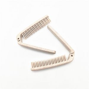 Eco-Friendly Natual Wheat Straw Foldable  Airline Hotel Combs