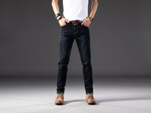 Factory Supply New Youth Fashion Strech Skinny Denim Jeans for Men
