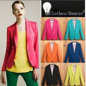 Fashion Candy Colors Professional Outwear Women Coat (MU6626)
