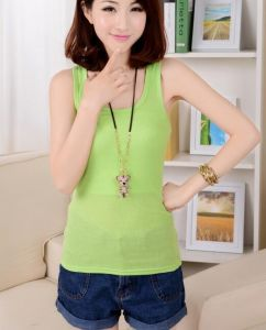 Fashion Green Colors Women Round Neck Summer Tank Top