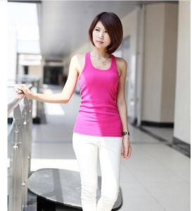 Fashion Candy Colors Women Round Neck Summer Tank Top