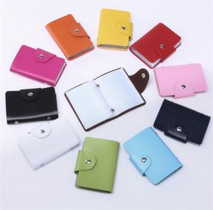 Fashion PU Leather 24 Card Slots Business Credit Card Wallet