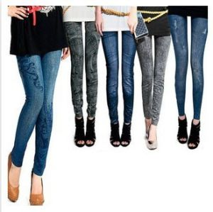 Fashion Sexy Women Stretch Pencil Pants Printed Note Multi Color  Leggings