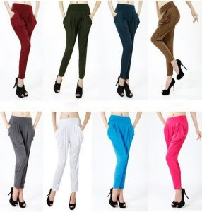 Fashion Women High Waist Colorful Harem Multi Color  Pants Sr8228