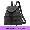 Fashion Women Luminous Backpack Female Girls Daily Geometry School Folding Travel Bag