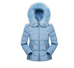 Blue Color Fashion Women Winter Outwear Hooded Cotton Jacket