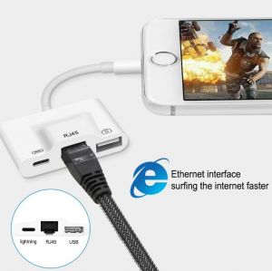 for Apple Lightning to Ethernet Camera Adapter 1000m RO 100m