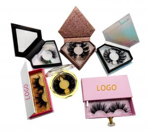 Free Sample Private Label Full Strip False Lashes Vendor 100% Real 3D 5D 25mm 25 mm Mink Eyelash with Custom Packing Box
