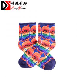 Free Sample Women Thermo Socks Colorful Sublimated Sport Socks
