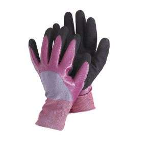 13 Guage String Knitted Base Nylon Working Glove Nitrile 3/4 Coated Safety Gloves, Sandy Surface N11508