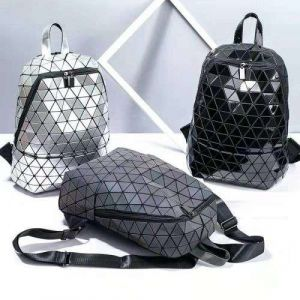 Geometric Luminous Reflective Holographic Laser School Bag for Teenagers Backpack