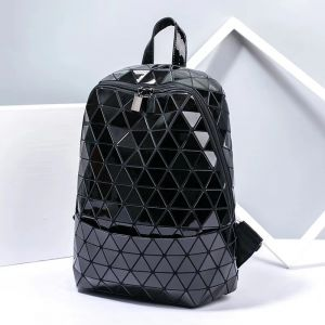 Geometric Rhombic Luminous Shoulder Bag Holographic Backpack for Travel Outdoor