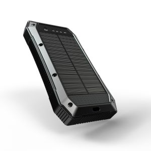Es 980s Type-C Pd 20000mAh Solar Wireless Charging Black Color  Power Bank with Camping Warning Light