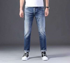 Gndz Customized Designs for Men′s Casual Jean Pants High-End Slim Fit Trousers