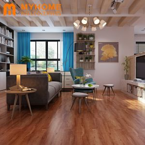 Guangzhou Stock Wood Self-Adhesive Floor Tiles Floor Sticker for Home Decoration