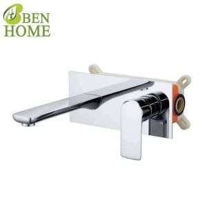 Black Brass Wall Mounted Basin Faucet Concealed Faucet