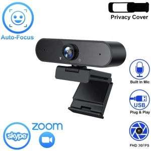 Auto Focus Webcam Full HD 2k 1080P 720P Web Camera with Mic for Live Broadcast Video Online Learning Conference Work