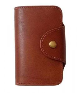 Cow leather outside custom folders with pocket and card holders