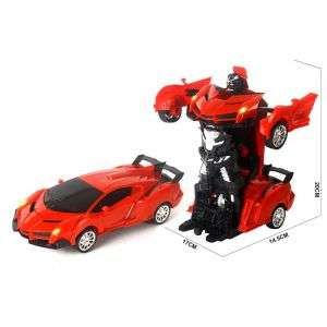 1:16 Big Scale 2 in 1 Deformation Robot LED Light 360 Degree Radio Remote Control Car Turns Kids Toys