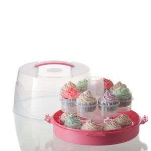 Plastic Round Pastry Form Pastry Baking Tool Cake or Cupcake Container Carrier Customized Logo Color