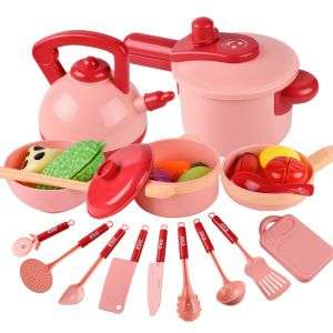 16 Pack Play Cooking Cookware Set Playset Educational Kids Kitchen Pretend Play Toys Set With Pot Pans -2