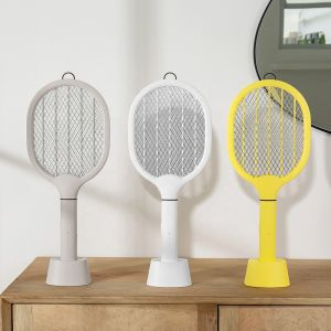 Functional USB Rechargeable Mosquito Killer Racket Electric Mosquito Swatter 4000mAh