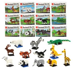 Building Blocks Toys Educational DIY Plastic Building Blocks Wholesale China Animal Instruction Toys for Kid