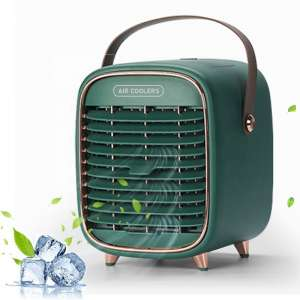 Mini rechargeable battery usb air cooler fans small water portable evaporative air cooler