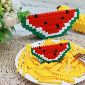 Building Blocks Toys Fruits DIY Nano Bricks ECO Friendly ABS Plastic Mini Building Blocks Educational Toys for Kids