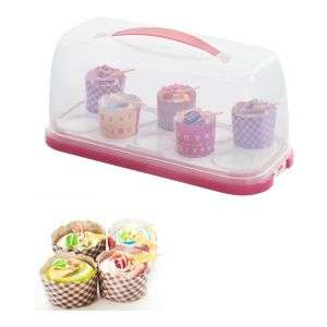 cake tools mini cupcake stand plastic chocolate, cookie cupcake carrier holder with handle and ice pack