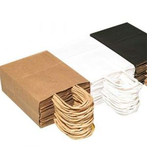Kraft Shopping Paper Packaging Gift Bags in Bulk with Handles Supplier