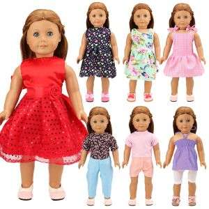 New Fashion Wholesale 10 Items/Set Doll Accessories 43CM Random Kids Toy 18 Inch Doll Clothes For America Doll Best Girl Gift