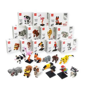 Micro Building Blocks Super Cute Animal Shaped Children Mini 3D Puzzle DIY Educational Kids Gift Plastic DIY Toy