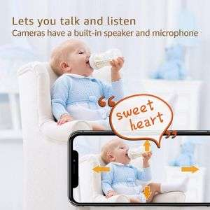 Smart Home 4 Channel 3.6mm Fixed Lens App Control Night Vision CCTV Camera System 3MP PTZ WiFi Camera